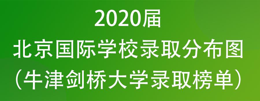 2020届北京国际学校录取情况表(牛津剑桥大学录取榜单)